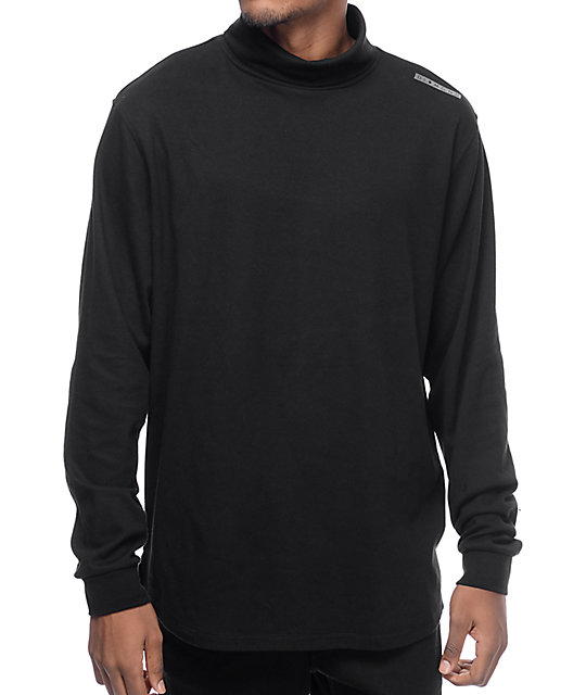 e8c8cc20cd0d Diamond Supply Co Marquise Black Long Sleeve Turtleneck Shirt | Zumiez