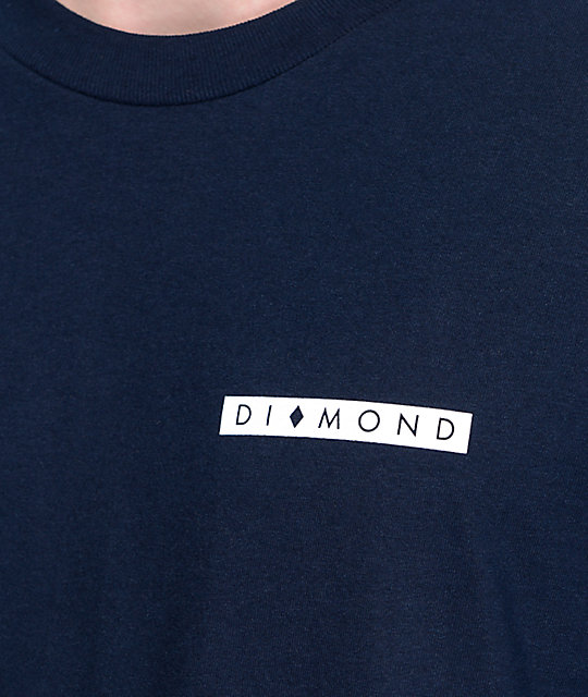 Diamond Supply Co Marquise Navy T-Shirt