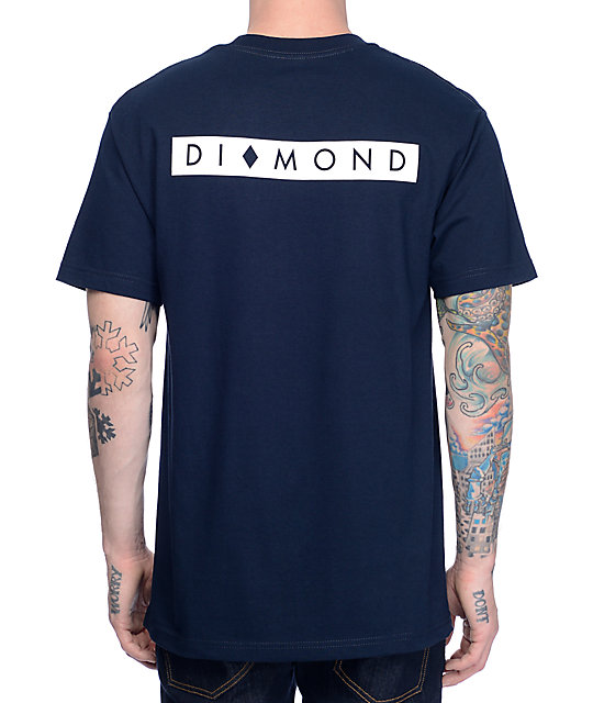 Diamond Supply Co Marquise camiseta en azul marino