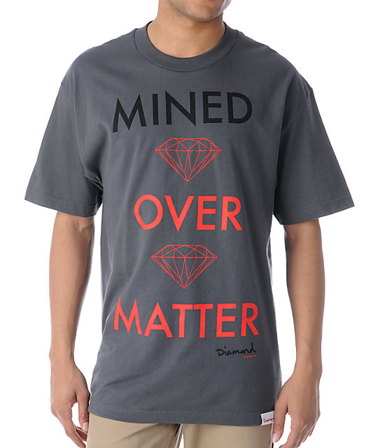 Diamond Supply Co Mined Over Matter Charcoal T-Shirt