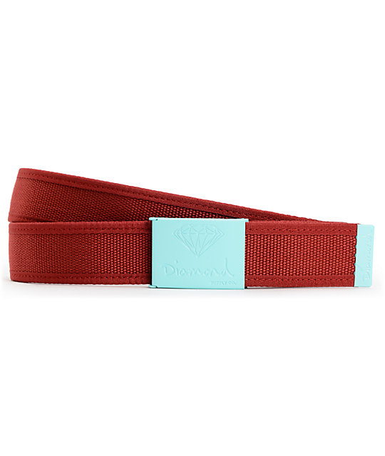 Diamond Supply Co OG 2-tone Mint & Burgundy Belt