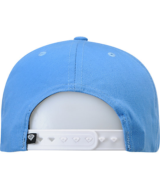 Diamond Supply Co OG Logo Blue & Black Snapback Hat