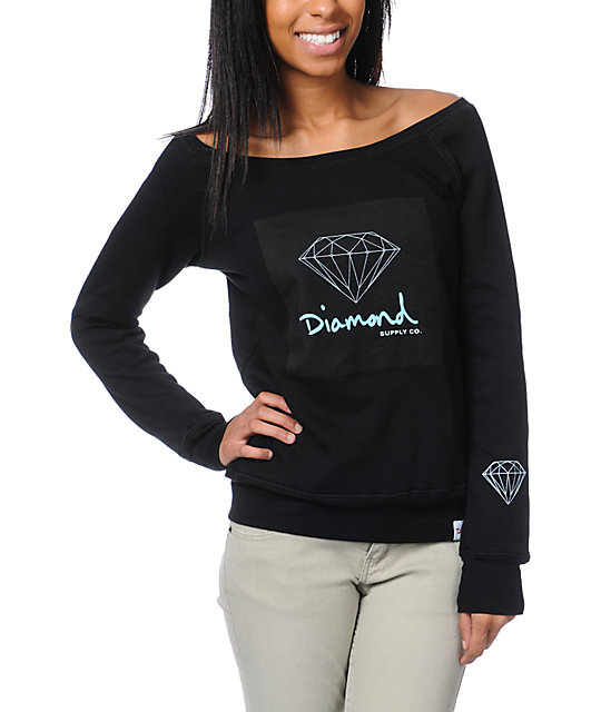 Diamond Supply Co OG Script Black Crew Neck Sweatshirt