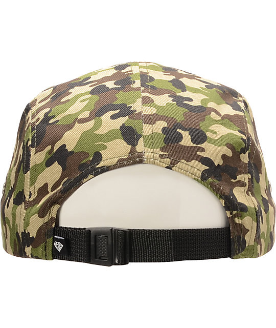 Diamond Supply Co OG Script Camo 5 Panel Hat