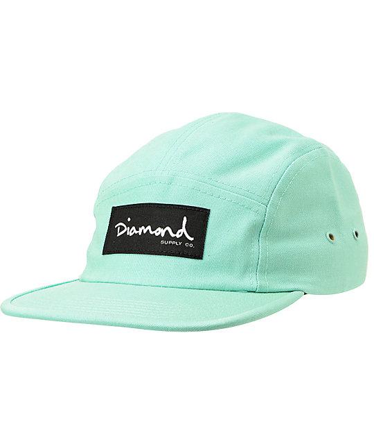 Diamond Supply Co OG Script Diamond Blue 5 Panel Hat  afe84fc4d1a