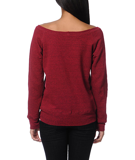 Diamond Supply Co OG Script Heather Red Crew Neck Sweatshirt