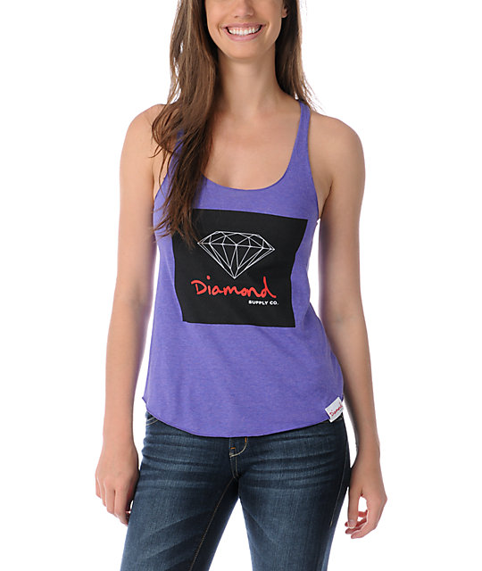 Diamond Supply Co OG Sign Purple Tank Top