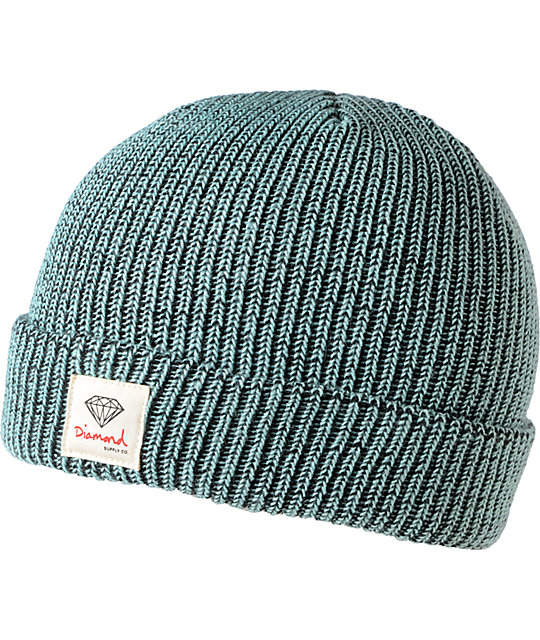 Diamond Supply Co OG Sign Speckled Mint Cuff Beanie