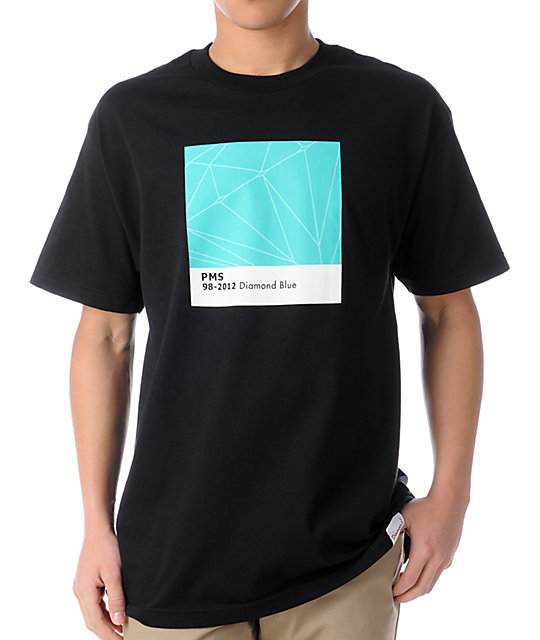 Diamond Supply Co Pantone Diamond Blue Black T-Shirt