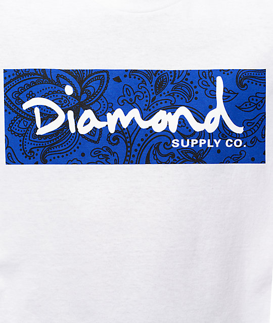 Diamond Supply Co Radiant Box Logo camiseta blanca