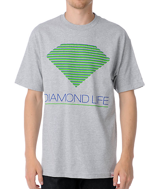 Diamond Supply Co Retro Grey T-Shirt