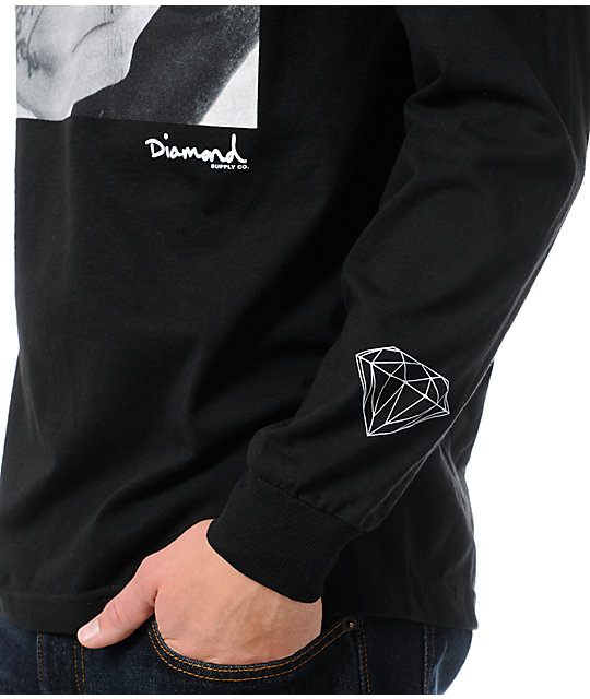 Diamond Supply Co Rollin Diamonds Black Long Sleeve T-Shirt