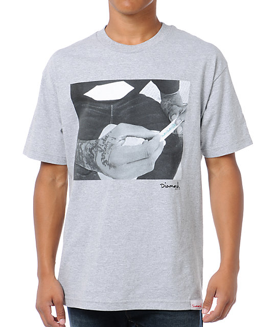 Diamond Supply Co Rollin Diamonds Grey T-Shirt