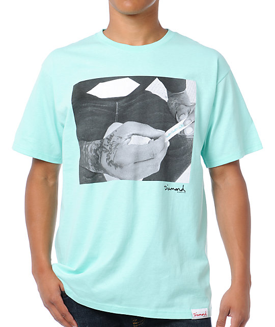 Diamond Supply Co Rollin Diamonds Turquoise T-Shirt