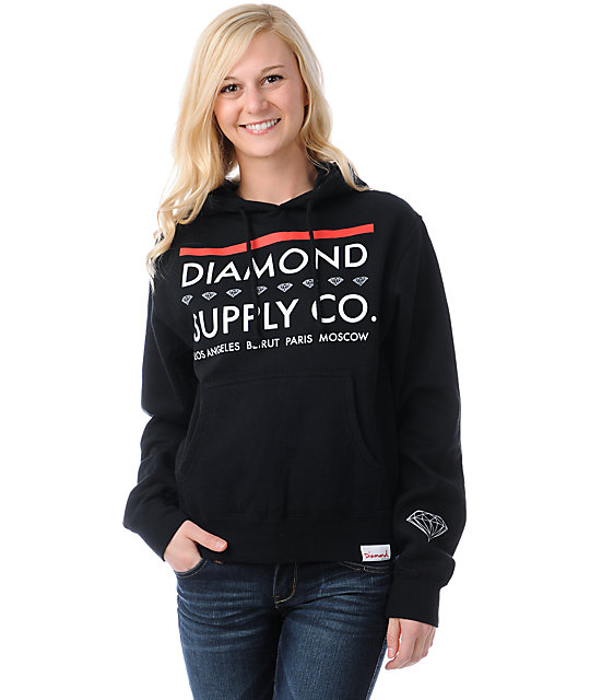 Diamond Supply Co Roots Black Pullover Hoodie