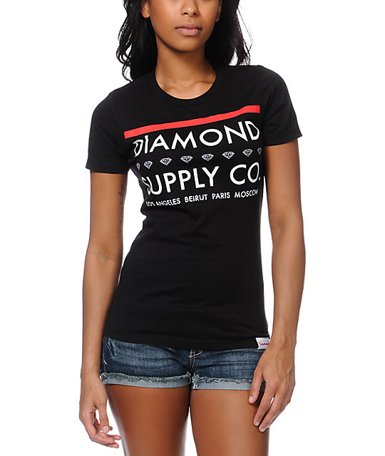 Diamond Supply Co Roots Black T-Shirt