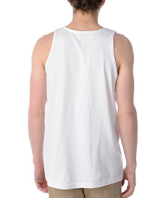 Diamond Supply Co Roots White Tank Top