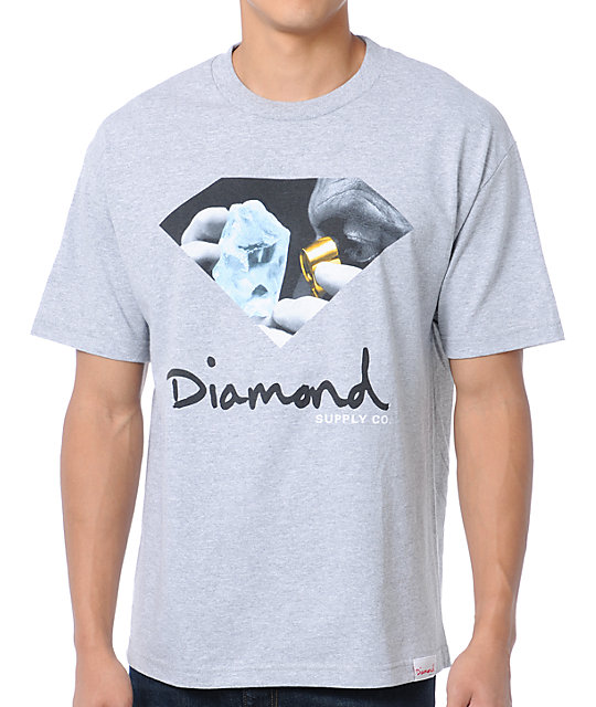 Diamond Supply Co Scope Grey T-Shirt