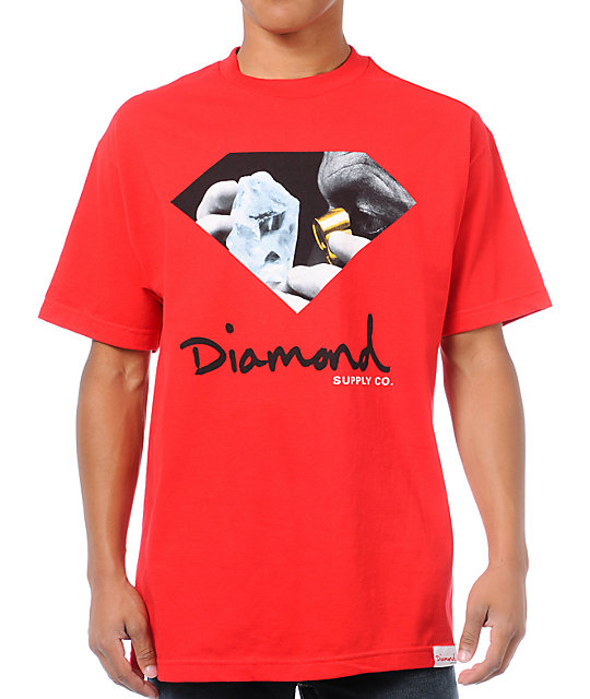 Diamond Supply Co Scope Red T-Shirt