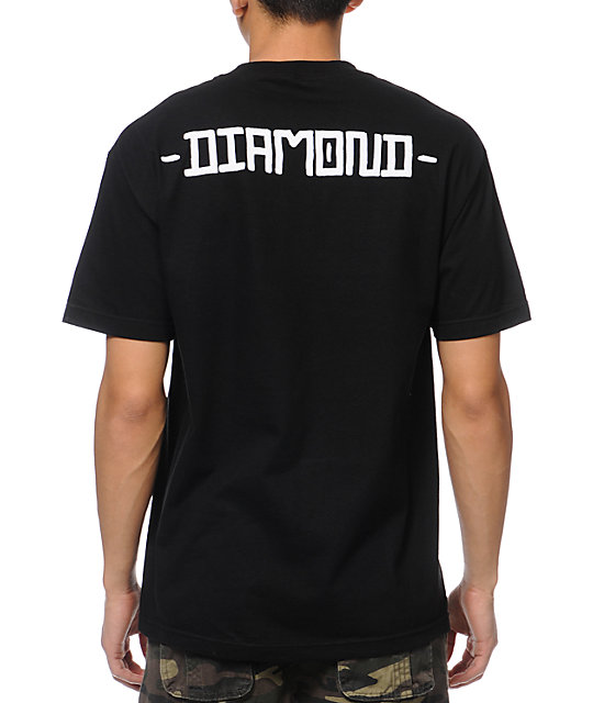 Diamond Supply Co Skull Black T-Shirt