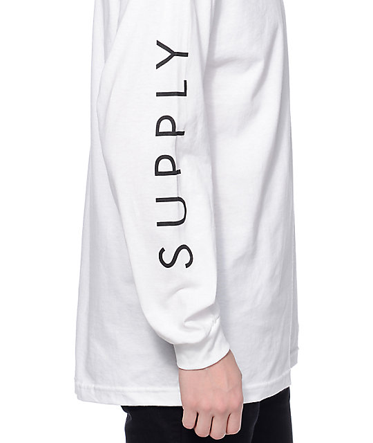 Diamond Supply Co Solid White Long Sleeve T-Shirt