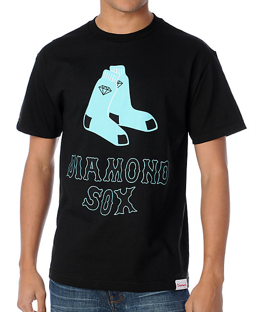 Diamond Supply Co Sox Black T-Shirt