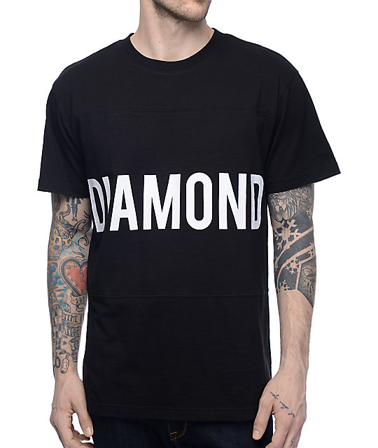 Diamond Supply Co Speedway Black Panel T-Shirt