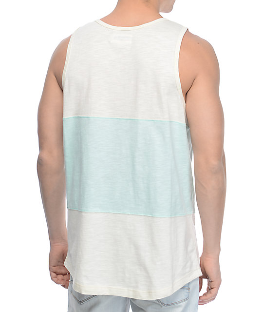 Diamond Supply Co Speedway camiseta sin mangas en colores crema y menta