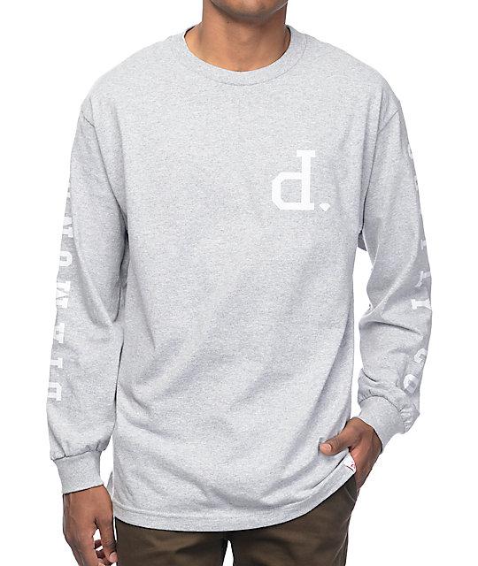 Diamond Supply Co Tonal Un-Polo Grey Long Sleeve T-Shirt  4a10f4d989b5
