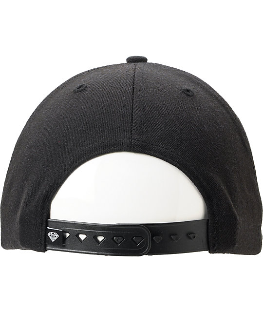 Diamond Supply Co Un Polo Black Snapback Hat