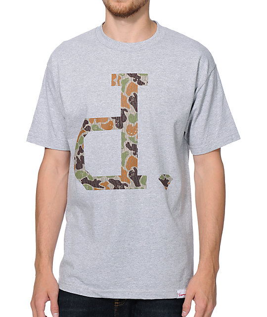 Diamond Supply Co Un Polo Rain Camo Grey T-Shirt