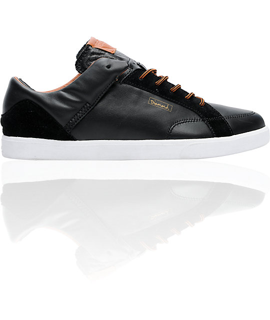 Diamond Supply Co VVS Black & Brown Leather Shoes