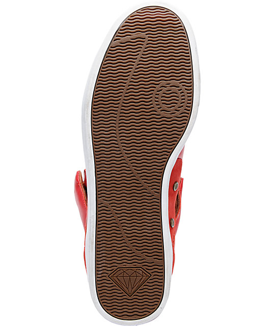 Diamond Supply Co VVS Red & Brown Leather Shoes