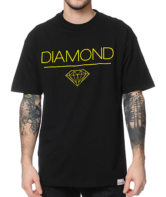 Diamond Supply Co White Space DMND Black T-Shirt