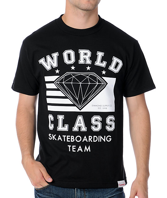 Diamond Supply Co World Class Black T-Shirt