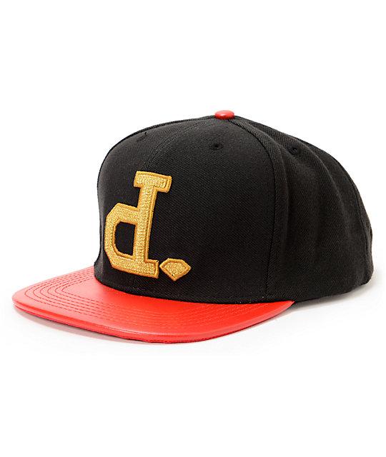 b24f74da5efcc Diamond Supply Co x Ben Baller Un-Polo Black   Red Snapback Hat