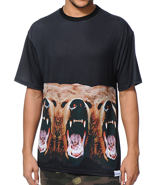 f522f7881ce Diamond Supply Co x Grizzly Grip Tape Yosemitrip Black T-Shirt