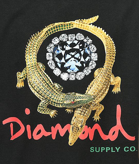 Diamond Supply Co Alligator Black T Shirt Zumiez