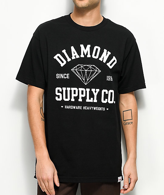 Diamond Supply Co. Athetic camiseta negra