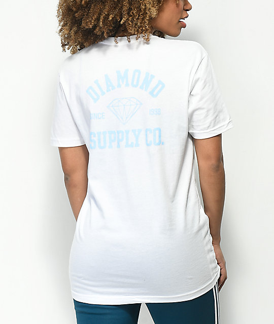 Diamond Supply Co. Athletic Logo White T-Shirt