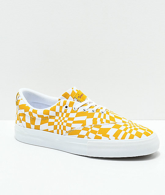 Diamond Supply Co. Avenue QS Gold & White Skate Shoes