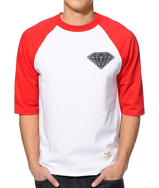 af21e5c4051 Diamond Supply Co. Big Brilliant Red   White Baseball T-Shirt