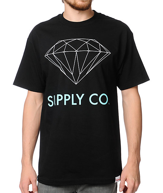 Diamond Supply Co. Black & Mint T-Shirt