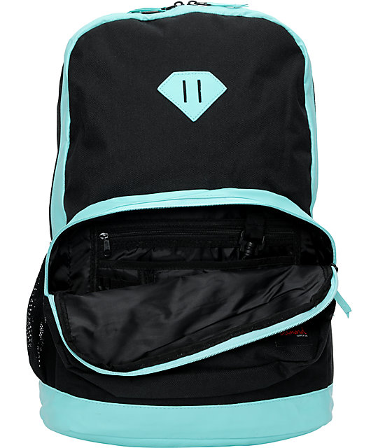Diamond Supply Co. Black & Turquoise School Life Backpack