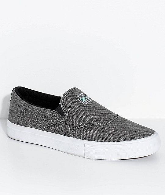 Diamond Supply Co. Boo-J Lite Washed zapatos de skate en blanco y negro