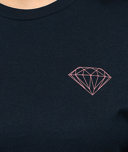 Diamond Supply Co. Boxed In Navy Long Sleeve T-Shirt
