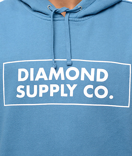 Diamond Supply Co. Boxed In sudadera azul con capucha