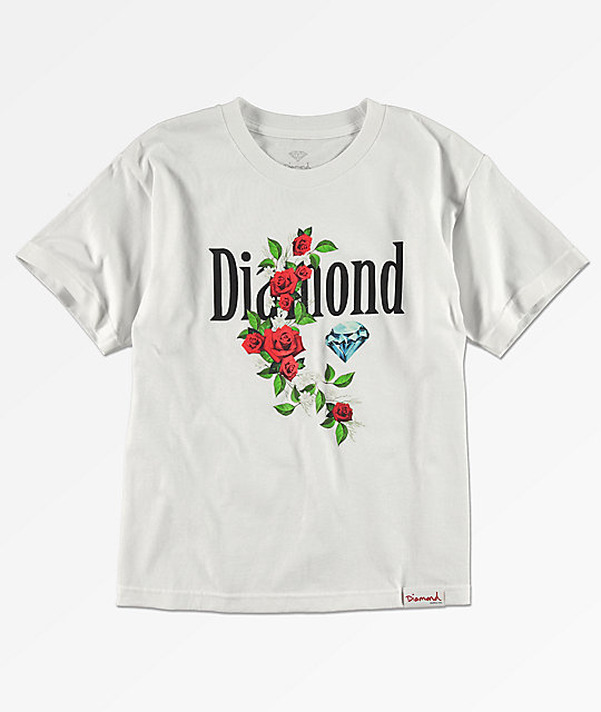 Diamond Supply Co. Boys Garden White T-Shirt