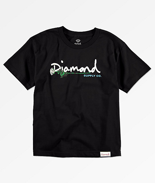 Diamond Supply Co. Boys Gem Script Black T-Shirt