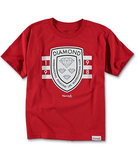 Diamond Supply Co  Boys International Skate Red T-Shirt